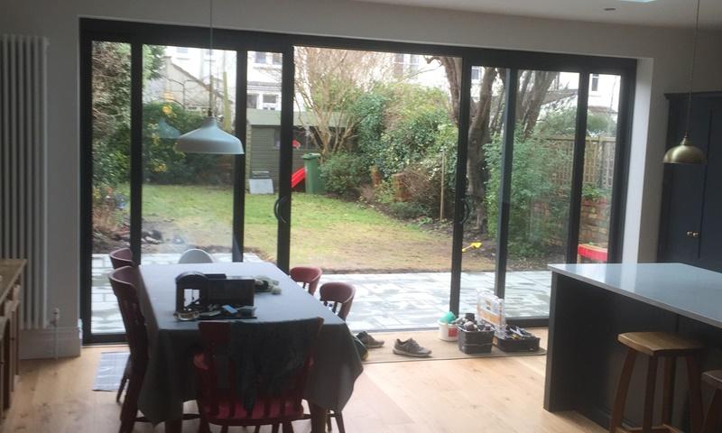 kitchen extension Bristol, view of garden