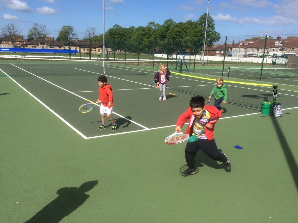 Coaching at knowle lawn tennis club Bristol